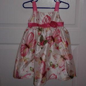 Girls Dress with Butterflies